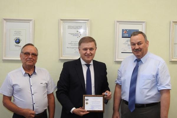 Cea mai înaltă distincţie sindicală pentru Preşedintele Moldova Agroindbank